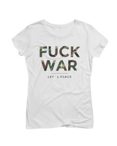 Artistik World Fuck War T-Shirt Woman Camouflage