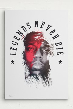 Legends never Die Biggie / Leinwand / Canvas