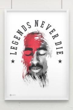 Artistik World Tupac Poster