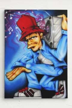 Scotty76 Charicture B Boy Leinwand Canvas
