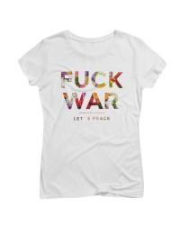 Artistik World Fuck War Flower T-Shirt Woman