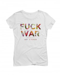 Artistik World Fuck War Flower T-Shirt Woman