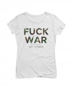 Artistik World Fuck War T-Shirt Woman Camouflage